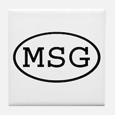 MSG Oval Tile Coaster
