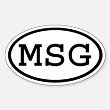 MSG Oval Oval Decal