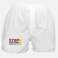 STOP suicide make choice Boxer Shorts