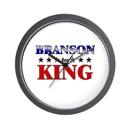 BRANSON for king Wall Clock