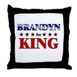 BRANDYN for king Throw Pillow