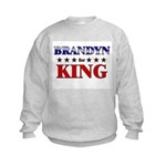 BRANDYN for king Kids Sweatshirt
