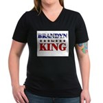 BRANDYN for king Women's V-Neck Dark T-Shirt