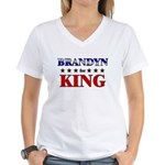 BRANDYN for king Women's V-Neck T-Shirt