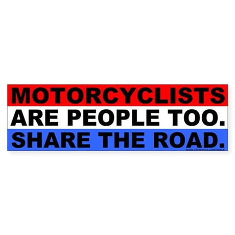 Motorcycle Rights Bumper Sticker