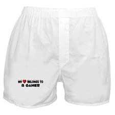 Belongs To A Gamer Boxer Shorts