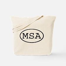 MSA Oval Tote Bag