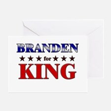 BRANDEN for king Greeting Card