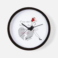 Redhead Bad Girl Wall Clock
