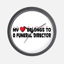 Belongs To A Funeral Director Wall Clock