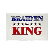 BRAIDEN for king Rectangle Magnet