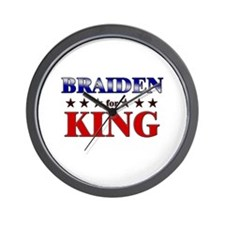 BRAIDEN for king Wall Clock