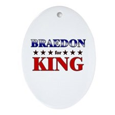 BRAEDON for king Oval Ornament