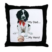 My Dad, My Hero Throw Pillow