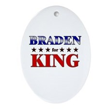 BRADEN for king Oval Ornament