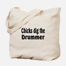 Cute Chicks dig bass players Tote Bag