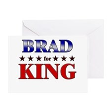 BRAD for king Greeting Card