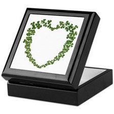 Shamrock Heart Wreath Keepsake Box