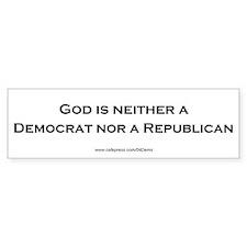 """""""God Isn't Republican"""" Bumper Bumper Sticker"""