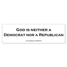 """God Isn't Republican"" Bumper Car Sticker"