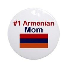 #1 Armenian Mom Ornament (Round)