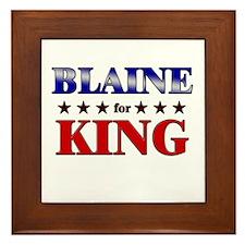 BLAINE for king Framed Tile
