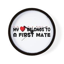 Belongs To A First Mate Wall Clock