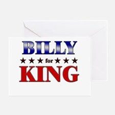 BILLY for king Greeting Card