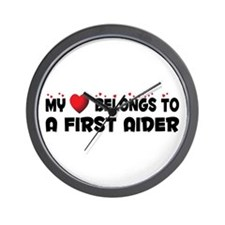 Belongs To A First Aider Wall Clock