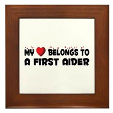 Belongs To A First Aider Framed Tile