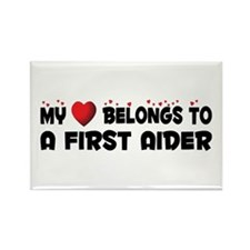 Belongs To A First Aider Rectangle Magnet