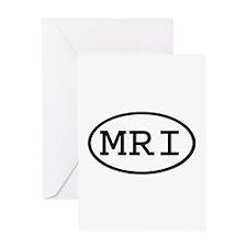 MRI Oval Greeting Card