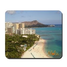 Waikiki Hawaii Diamond Head Mouse pad