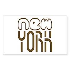 NEW YORK Tees Rectangle Decal
