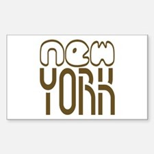 NEW YORK Tees Rectangle Decal