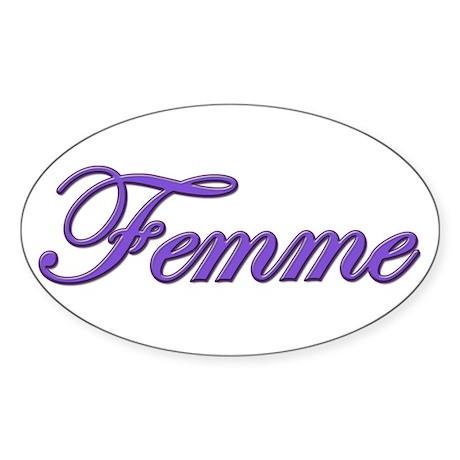 Femme Oval Sticker