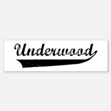 Underwood (vintage) Bumper Stickers
