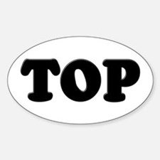 Top Oval Decal