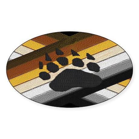 BEAR PRIDE BEAR PAW EMBLEM Oval Sticker
