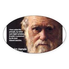 Charles Darwin: Evolution Oval Decal