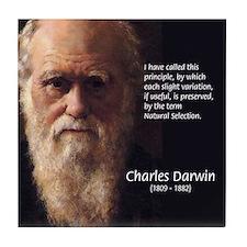 Charles Darwin: Evolution Tile Coaster