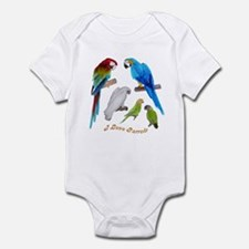 I love Parrots Infant Bodysuit