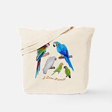 I love Parrots Tote Bag