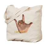 """I Love You"" Hand Tote Bag"