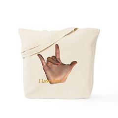 """""""I Love You"""" Hand Tote Bag"""