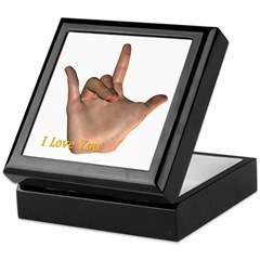 """I Love You"" Hand Keepsake Box"