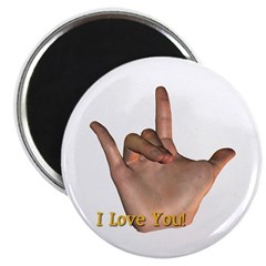 """""""I Love You"""" Hand Magnet"""