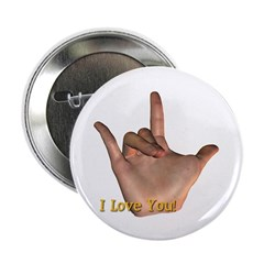"""""""I Love You"""" Hand 2.25"""" Button"""