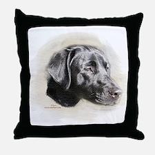 Duke The Black Lab Throw Pillow