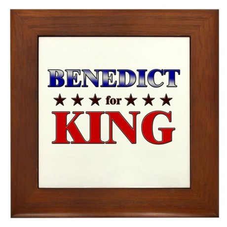 BENEDICT for king Framed Tile
